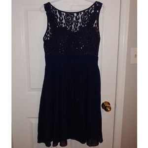 Dark Navy Blue Dress